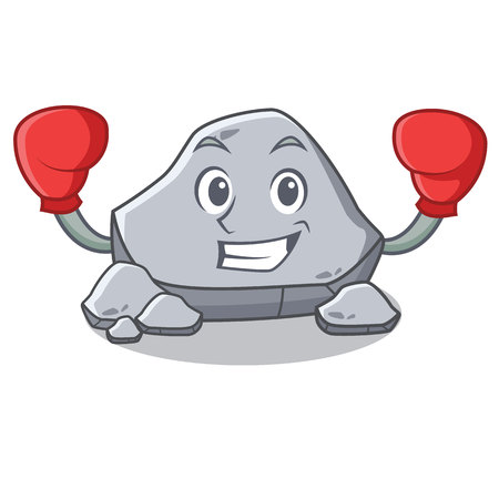 Boxing stone character cartoon style