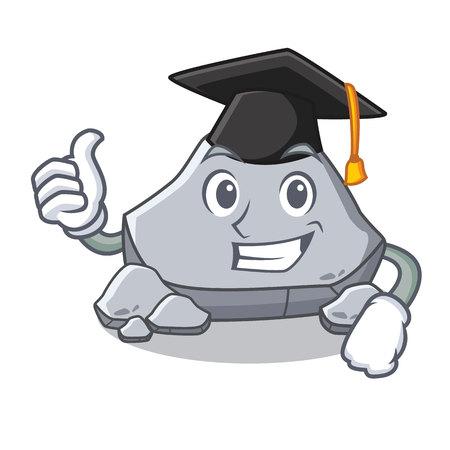 Graduation stone character cartoon style
