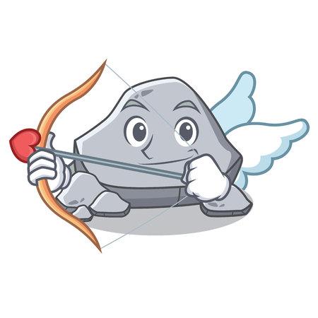 Cupid stone character cartoon style Illustration