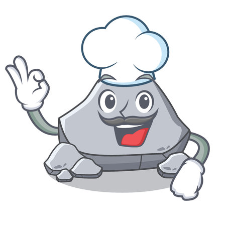Chef stone character cartoon style