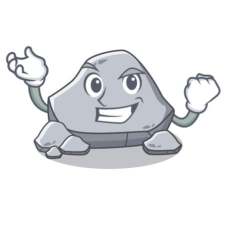 Successful stone character cartoon style
