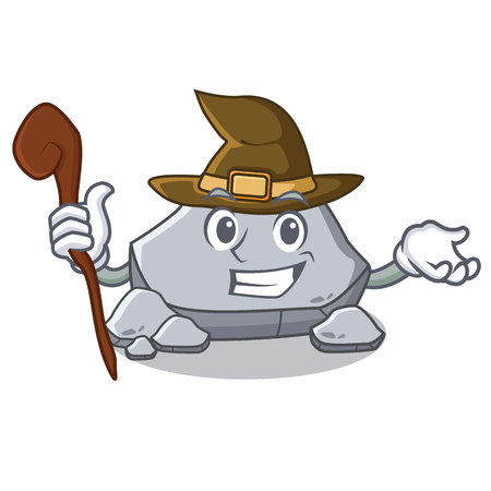 Witch stone character cartoon style