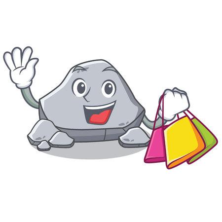 Shopping stone character cartoon style