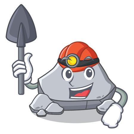 Miner stone character cartoon style