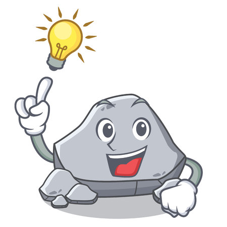 Have an idea stone character cartoon style