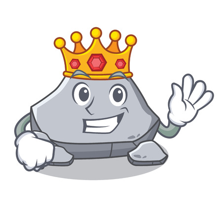 King stone character cartoon style vector illustration