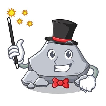 Magician stone character cartoon style vector illustration