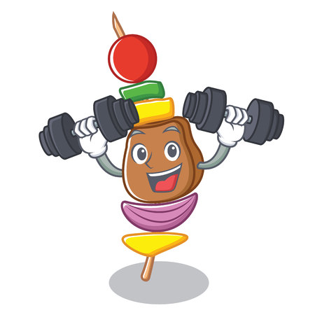 Fitness barbecue character cartoon style