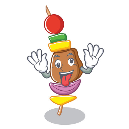 Crazy barbecue character cartoon style vector illustration Illustration