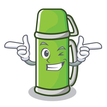 Wink character cartoon style vector illustration