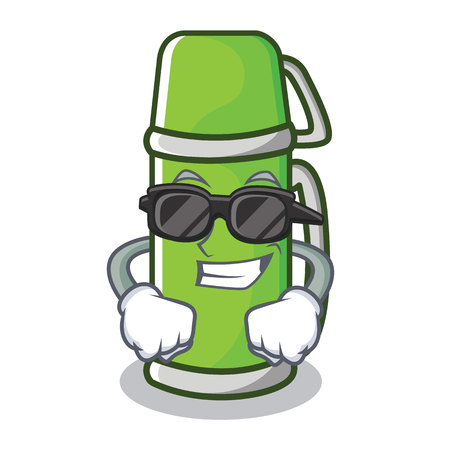 Super cool water bottle character cartoon style vector illustration Illustration