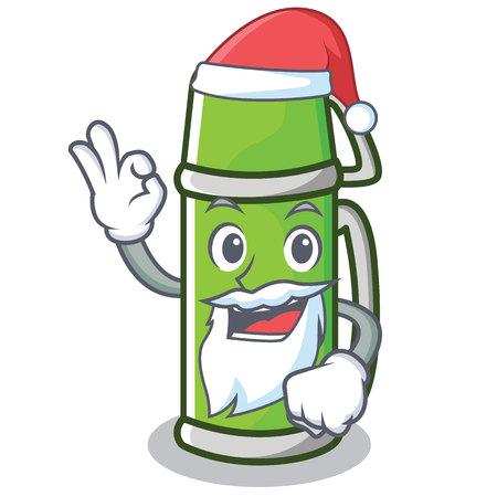 Santa flask character cartoon style
