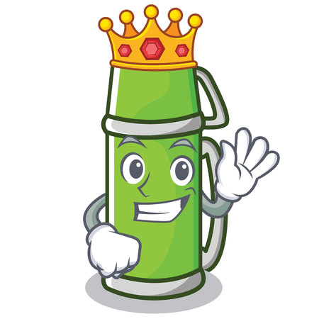 King flask character cartoon style