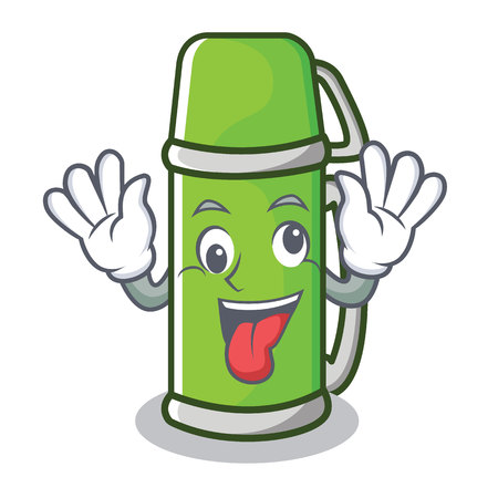 Crazy flask character cartoon style Illustration
