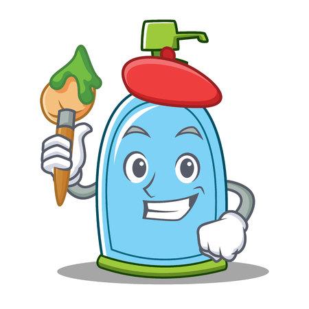 Artist liquid soap character cartoon