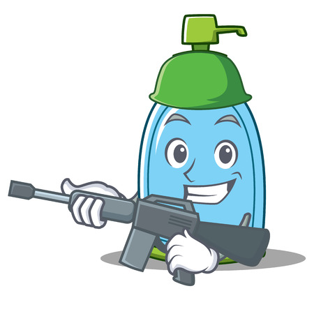 Army liquid soap character cartoon