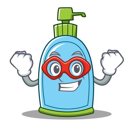 Super hero liquid soap character cartoon