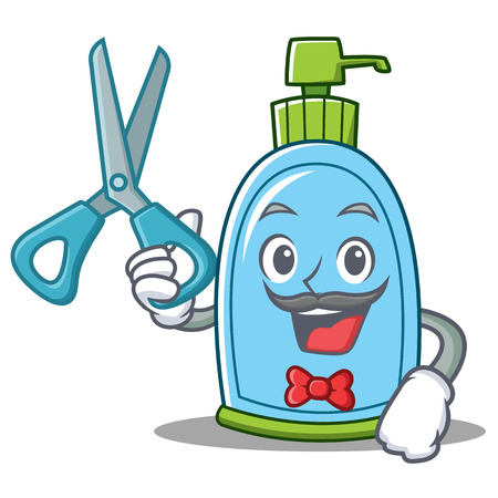 Barber liquid soap character cartoon