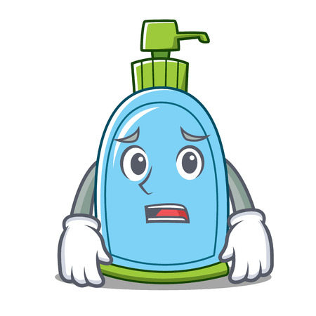 Afraid liquid soap character cartoon vector illustration Illustration