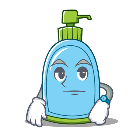 Waiting liquid soap character cartoon vector illustration