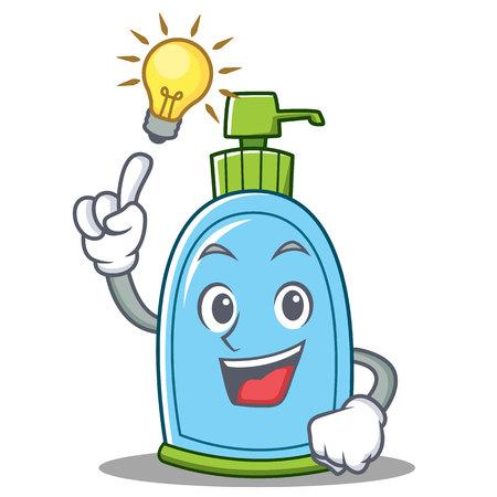 Have an idea liquid soap character cartoon vector illustration