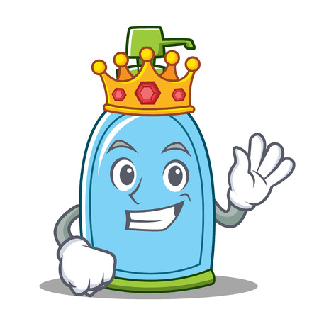 King liquid soap character cartoon Stock Photo