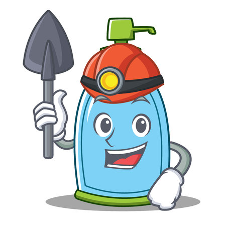 Miner liquid soap character cartoon