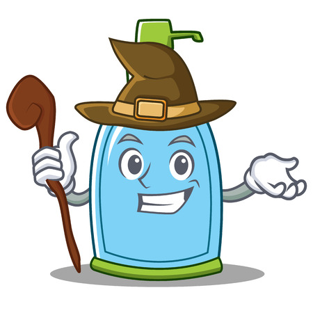 Witch liquid soap character cartoon