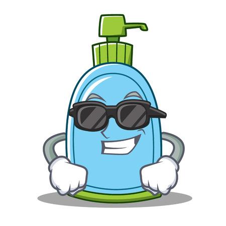 Super cool liquid soap character cartoon Stock Photo