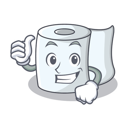 Thumbs up tissue character cartoon style Illustration