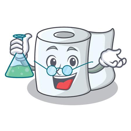 Professor tissue character cartoon style