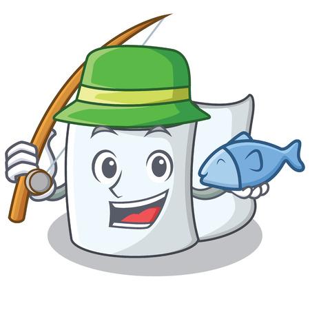 Fishing tissue character cartoon style