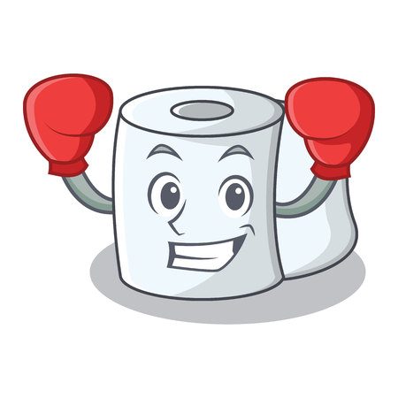 Boxing tissue character cartoon style