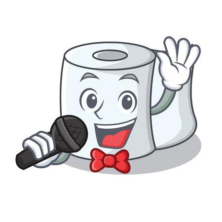 Singing tissue character cartoon style Illustration