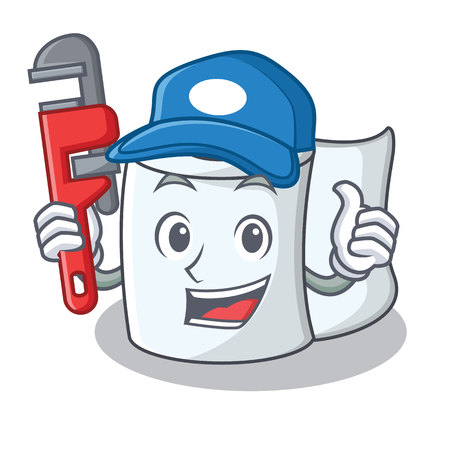 Plumber tissue character cartoon style Illustration