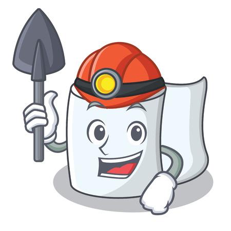Miner tissue character cartoon style