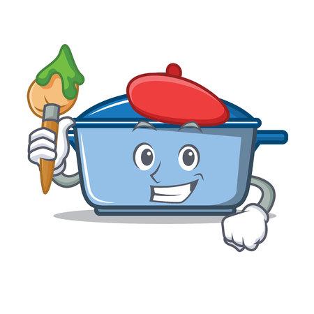 Artist kitchen pan  character cartoon style