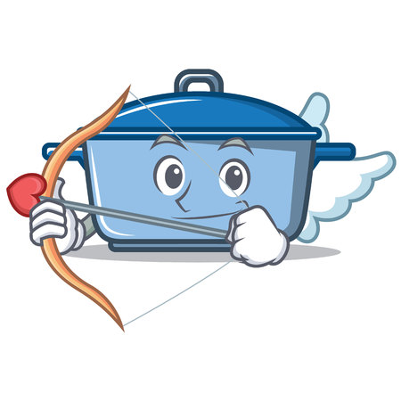 Cupid kitchen pan character cartoon style