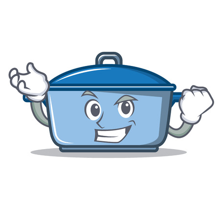 Successful kitchen pan character cartoon style