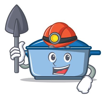 Miner kitchen pan character cartoon style