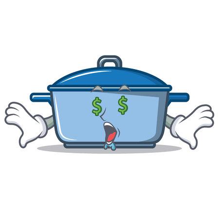 Money eye kitchen character cartoon style vector illustration