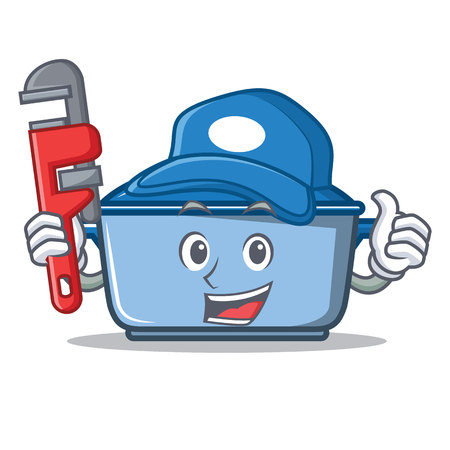 Plumber kitchen character cartoon style vector illustration Illustration