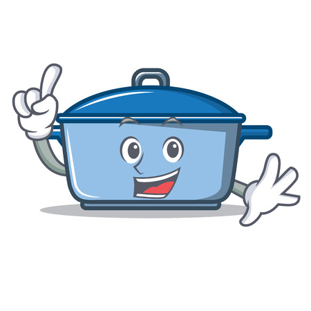 Finger kitchen character cartoon style vector illustration