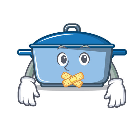Silent kitchen character cartoon style vector illustration Illustration