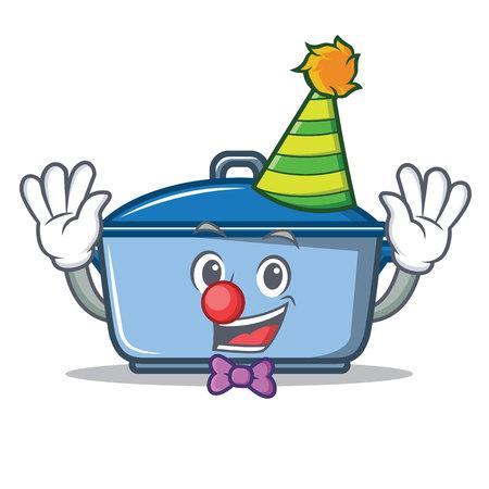 Clown kitchen character cartoon style