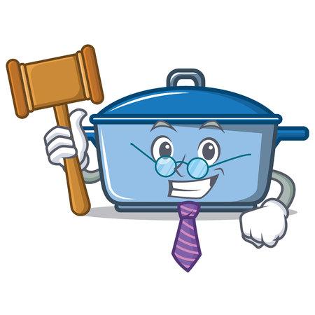 Judge kitchen character cartoon style