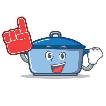 Foam finger kitchen character cartoon style
