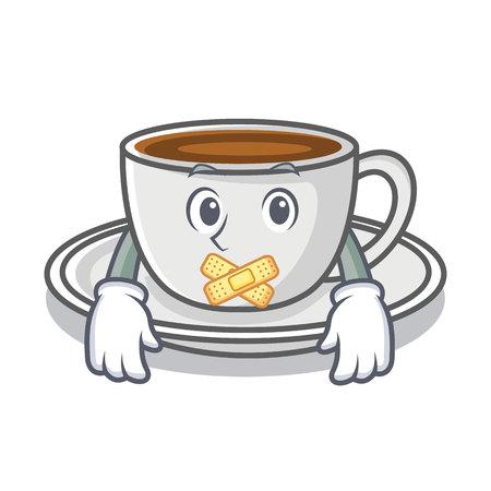 Silent coffee character cartoon style