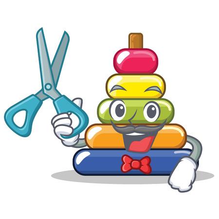Barber pyramid ring character cartoon