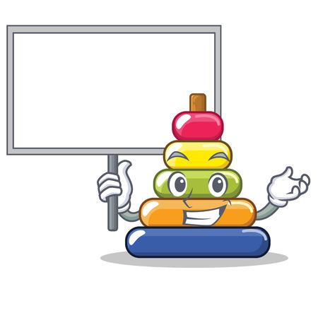 Bring board pyramid ring character cartoon